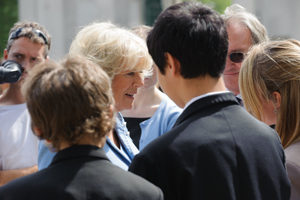 The Duchess of Cornwall meeting pupils from Knights Templar School © Duncan Soar Photography, 2012