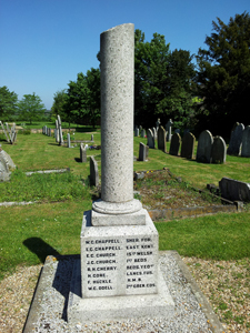 Houghton Conquest war memorial pillar, Bedfordshire © War Memorials Trust, 2012