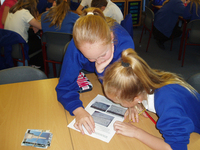 Pupils using WMT resources during a lesson © M Williams, 2014