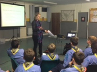 WMT Learning Officer delivering session to 33rd Oxfrod (Kidlington) Sea Scouts c. D Eyles