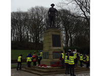 Year 5 pupils from Moorhouse Primary School carrying out condition survey at Milnrow war memorial, Rochdale © Moorhouse Primary School, 2019